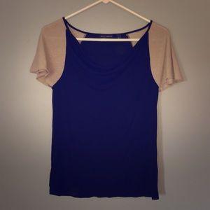 Black shirt / Sparkly Sleeves